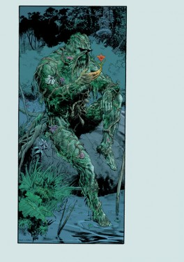 Swamp Thing pinup drawn by Steve Lieber